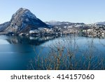 view to the bay of lugano on... | Shutterstock . vector #414157060