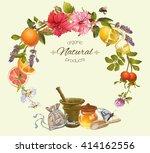 vector vintage natural round... | Shutterstock .eps vector #414162556