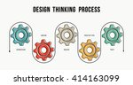 design thinking process... | Shutterstock .eps vector #414163099