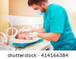 medical staff taking care of... | Shutterstock . vector #414166384