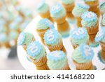 cupcakes on a mirror  with...   Shutterstock . vector #414168220