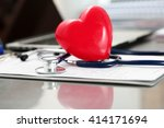 medical stethoscope head and...   Shutterstock . vector #414171694
