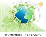 ecology connection  concept... | Shutterstock .eps vector #414172240