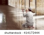 religious muslim man praying... | Shutterstock . vector #414172444