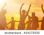 summer beach party freedom... | Shutterstock . vector #414173533