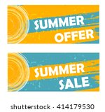 summer offer and sale banners   ... | Shutterstock . vector #414179530