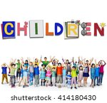 children kids offspring young...   Shutterstock . vector #414180430