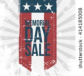 memorial day sale label on... | Shutterstock .eps vector #414185008