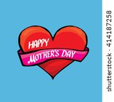 happy mothers day typographical ... | Shutterstock .eps vector #414187258