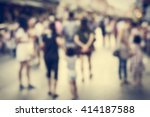 blurred people walking on the...   Shutterstock . vector #414187588