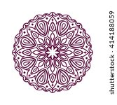 mandala. ethnic decorative... | Shutterstock .eps vector #414188059