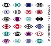 simple eye icons set. triangle... | Shutterstock .eps vector #414192208