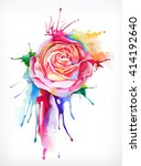 Watercolor Painting  Rose...