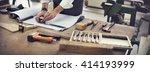 handyman occupation... | Shutterstock . vector #414193999