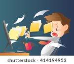 businessman working overtime... | Shutterstock .eps vector #414194953