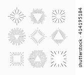 tribal boho style sun burst... | Shutterstock .eps vector #414195184