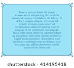 blue border frame deco vector... | Shutterstock .eps vector #414195418