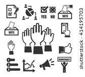 democracy  vote icon set   Shutterstock .eps vector #414195703