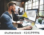 security breach cyber attack... | Shutterstock . vector #414199996