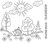 coloring  book.  hand drawn.... | Shutterstock .eps vector #414200209