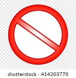 not allowed sign | Shutterstock .eps vector #414203770