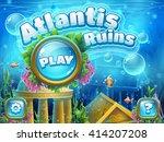 atlantis ruins   vector... | Shutterstock .eps vector #414207208