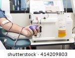 blood plasma donation process ...   Shutterstock . vector #414209803