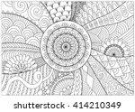 flowers and mandalas line art... | Shutterstock .eps vector #414210349