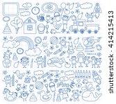 vector set of kindergarten... | Shutterstock .eps vector #414215413