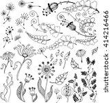 vector floral set. vector... | Shutterstock .eps vector #414216466