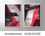 brochure template  flyer design ... | Shutterstock .eps vector #414219130