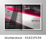 brochure template  flyer design ... | Shutterstock .eps vector #414219154