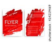 set of vector flyer templates... | Shutterstock .eps vector #414219469
