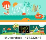 banners for summer activity and ... | Shutterstock .eps vector #414222649