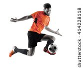 soccer player man isolated... | Shutterstock . vector #414228118