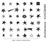 star doodles  hand drawn... | Shutterstock .eps vector #414228484