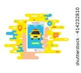 taxi service  mobile app vector ...