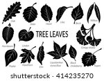 set of nature pictograms  tree... | Shutterstock . vector #414235270