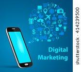 social media networking  mobile ... | Shutterstock .eps vector #414239500