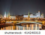 night view of the moscow... | Shutterstock . vector #414240313