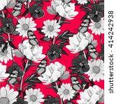 flower and butterfly | Shutterstock .eps vector #414242938