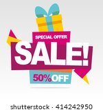big sale banner.  special offer.... | Shutterstock .eps vector #414242950