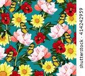 flower and butterfly   Shutterstock .eps vector #414242959
