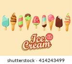 ice cream collection  vector...   Shutterstock .eps vector #414243499