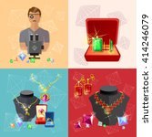 jewelry banners  jeweler at...   Shutterstock .eps vector #414246079