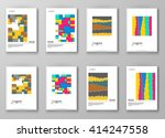 set of abstract design... | Shutterstock .eps vector #414247558