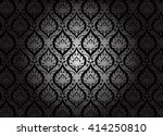 thai art pattern on black... | Shutterstock .eps vector #414250810