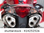 Tail Light And Exhaust Pipes Of ...