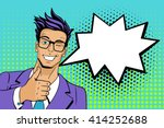 pop art man. young handsome man ... | Shutterstock .eps vector #414252688