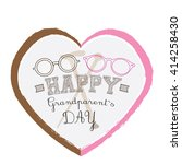 isolated heart with text and a... | Shutterstock .eps vector #414258430